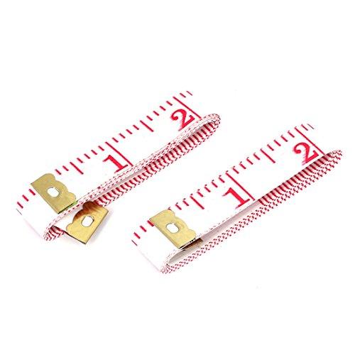 uxcell ソフトテープメジャー 両面用 縫製テーラー定規 ルーラー 150cm  衣料品用2個入り