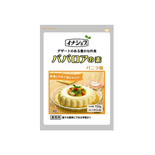 【常温】 伊那食品 ババロアの素 バニラ 750g 業務用 ババロア(ソースなし)