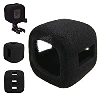 FENGYI KEJI 1pc Black Camera Windproof Wind Foam Noise Reduction Sponge Cover Suitable For Gopro Hero Session 5/4 Session