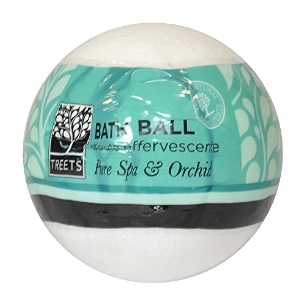 年金受給者砲撃ヒールTreets Orchid & Pure Spa Bath Ball (Pack of 6) - Treets蘭&純粋なスパバスボール (x6) [並行輸入品]