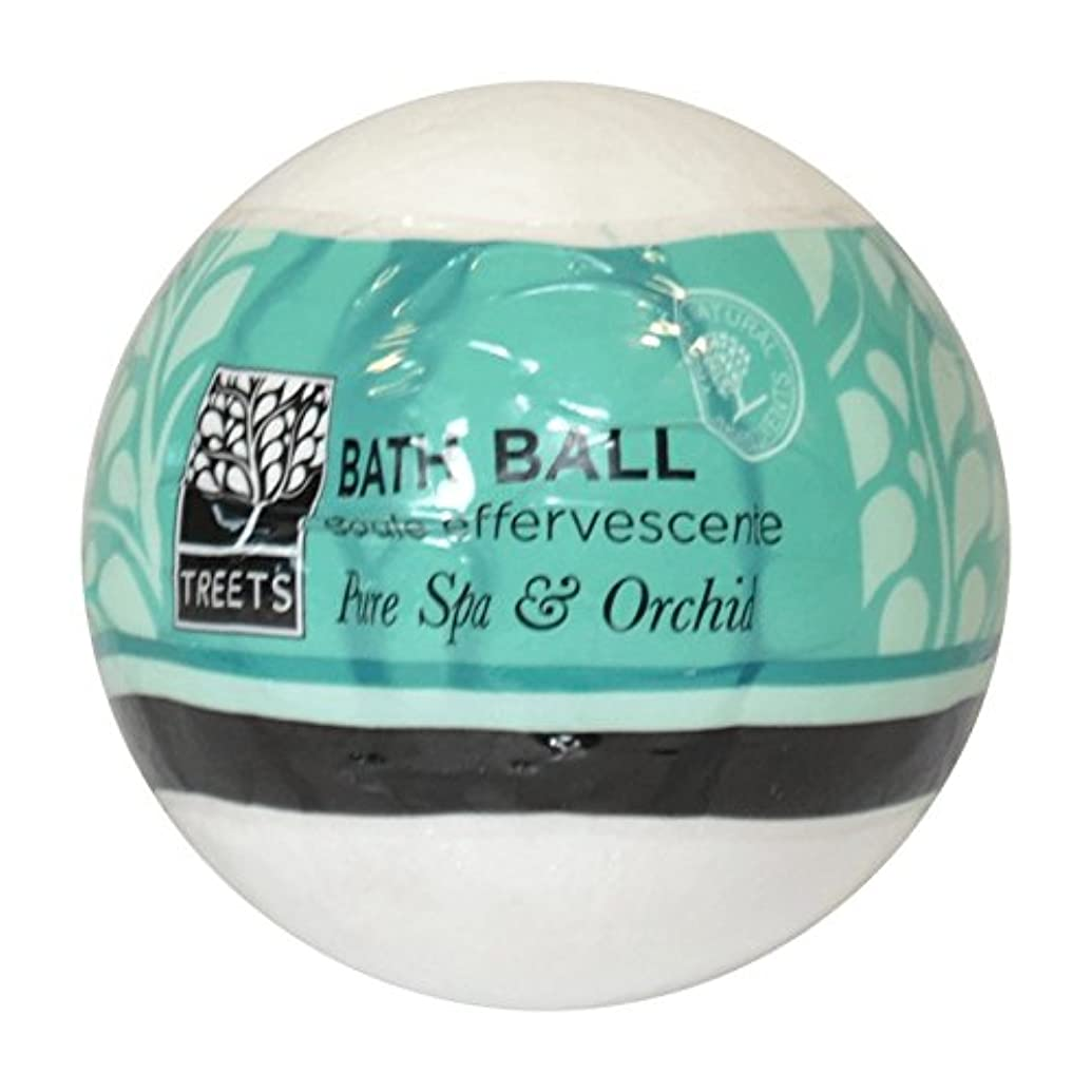 Treets Orchid & Pure Spa Bath Ball (Pack of 2) - Treets蘭&純粋なスパバスボール (x2) [並行輸入品]