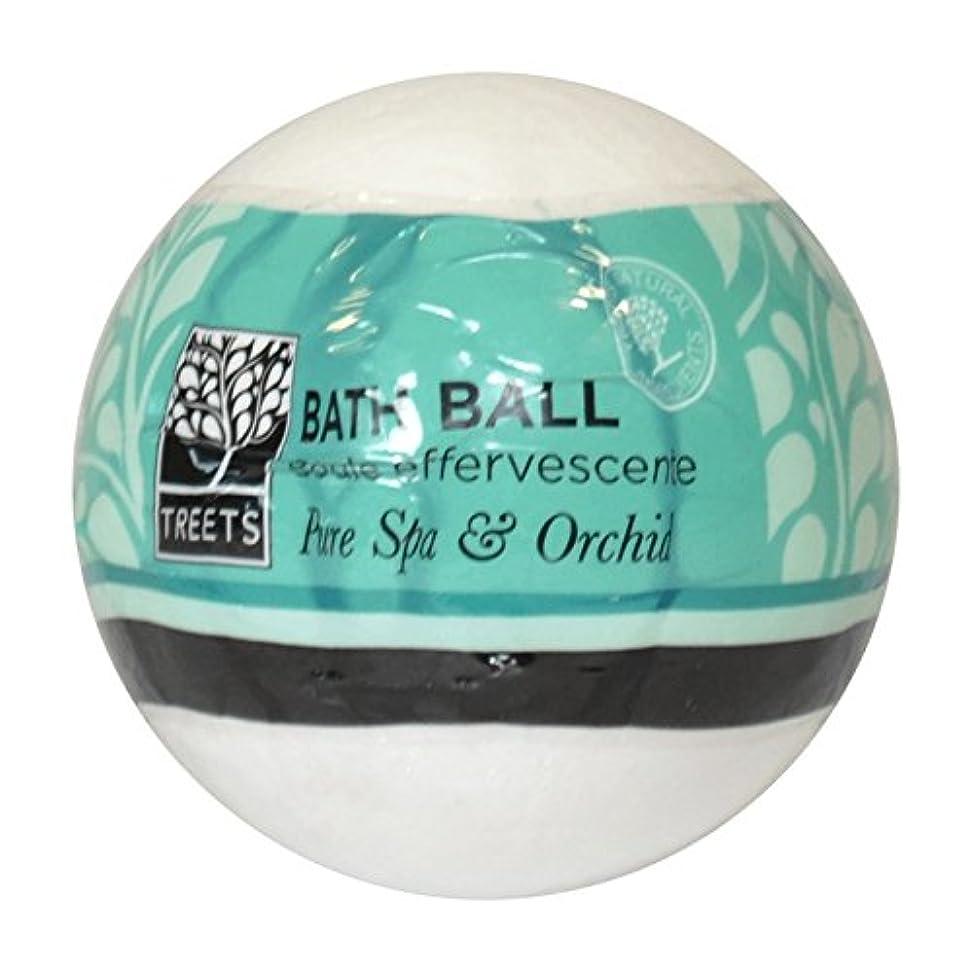火山ジャケット撤退Treets蘭&純粋なスパバスボール - Treets Orchid & Pure Spa Bath Ball (Treets) [並行輸入品]