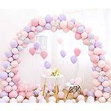キャンディー色のバルーン、結婚式のアレンジメントバルーンアーチの装飾的なバルーンの誕生日パーティホームデコレーション複数の色 (色 : D)