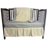 Baby Doll Bedding Zuma 4 Piece Crib Bedding Set Grey/Beige [並行輸入品]
