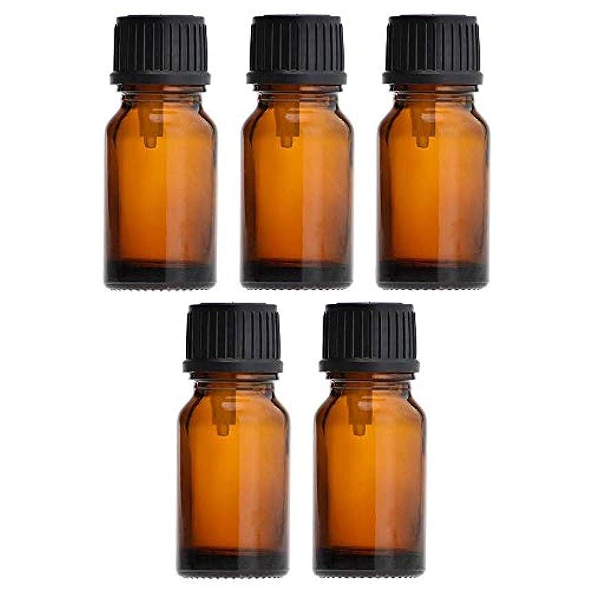 カカドゥ試みるアクセントアロマオイル 精油 遮光瓶 セット ガラス製 エッセンシャルオイル 保存用 保存容器詰め替え 茶色 10ml 5本セット
