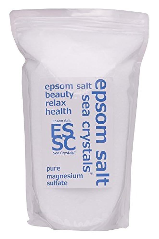 インチ権限を与える確立しますシークリスタルス 国産 エプソムソルト (硫酸マグネシウム) 入浴剤 2.2㎏約14回分 浴用化粧品 計量スプーン付 無香料