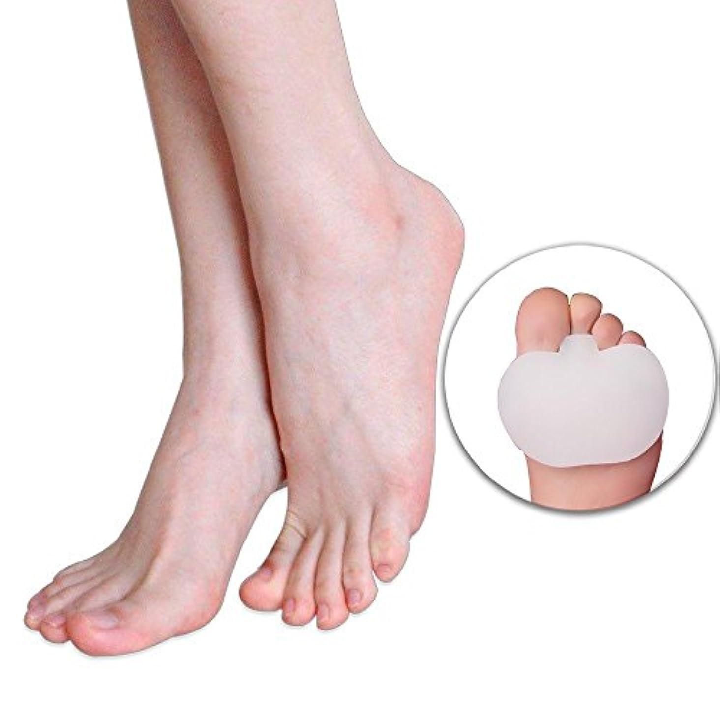 車両ウェブ曲フットマッサージ 前足パット足のケア、ゲルソックス、つま先、シリコン、外反母趾矯正、ゲル中足骨パッド、足クッションのボール、前足のケア、痛みの足の痛み、外反、外反母趾