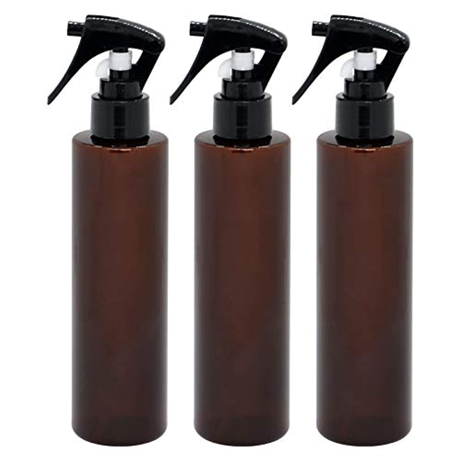 ネクタイコーチ大きい日本製 茶色スプレーボトル 200ml 3本セット ペットボトル 極細ミスト 遮光性の高いクリアブラウン