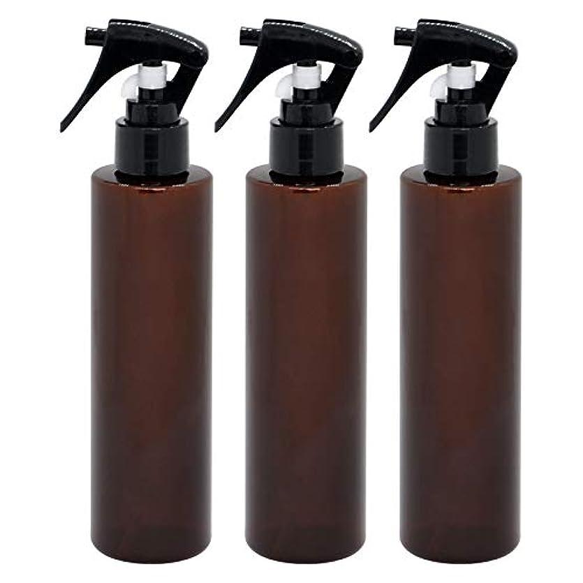 ニュースオーブン上下する日本製 茶色スプレーボトル 200ml 3本セット ペットボトル 極細ミスト 遮光性の高いクリアブラウン
