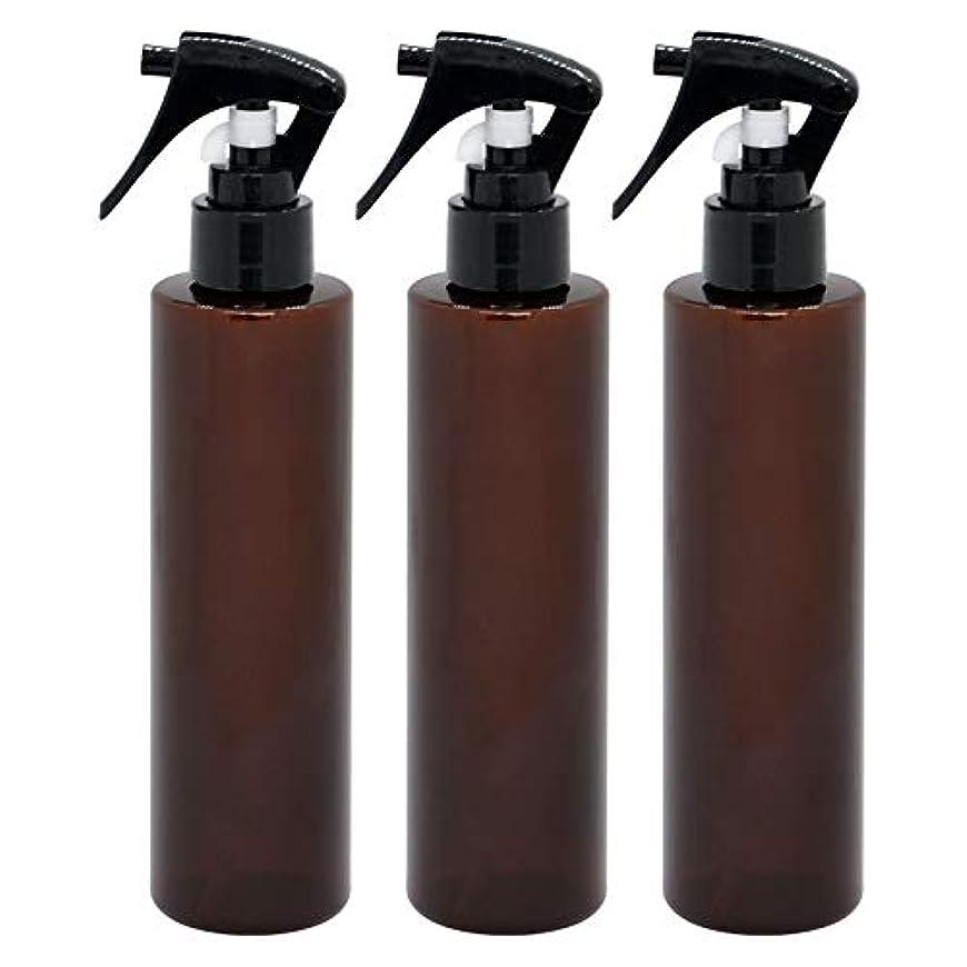 テスト昼間スクリュー日本製 茶色スプレーボトル 200ml 3本セット ペットボトル 極細ミスト 遮光性の高いクリアブラウン