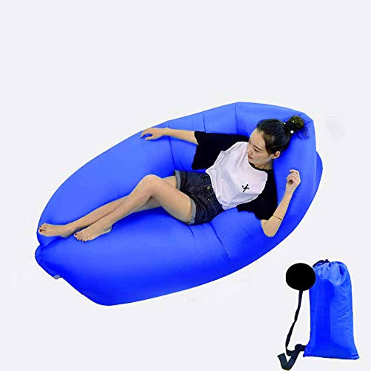 抑止するロードハウスアカデミー携帯用膨脹可能なソファー、キャンプの空気ソファー、耐久の折るオックスフォードの布旅行ピクニック,D