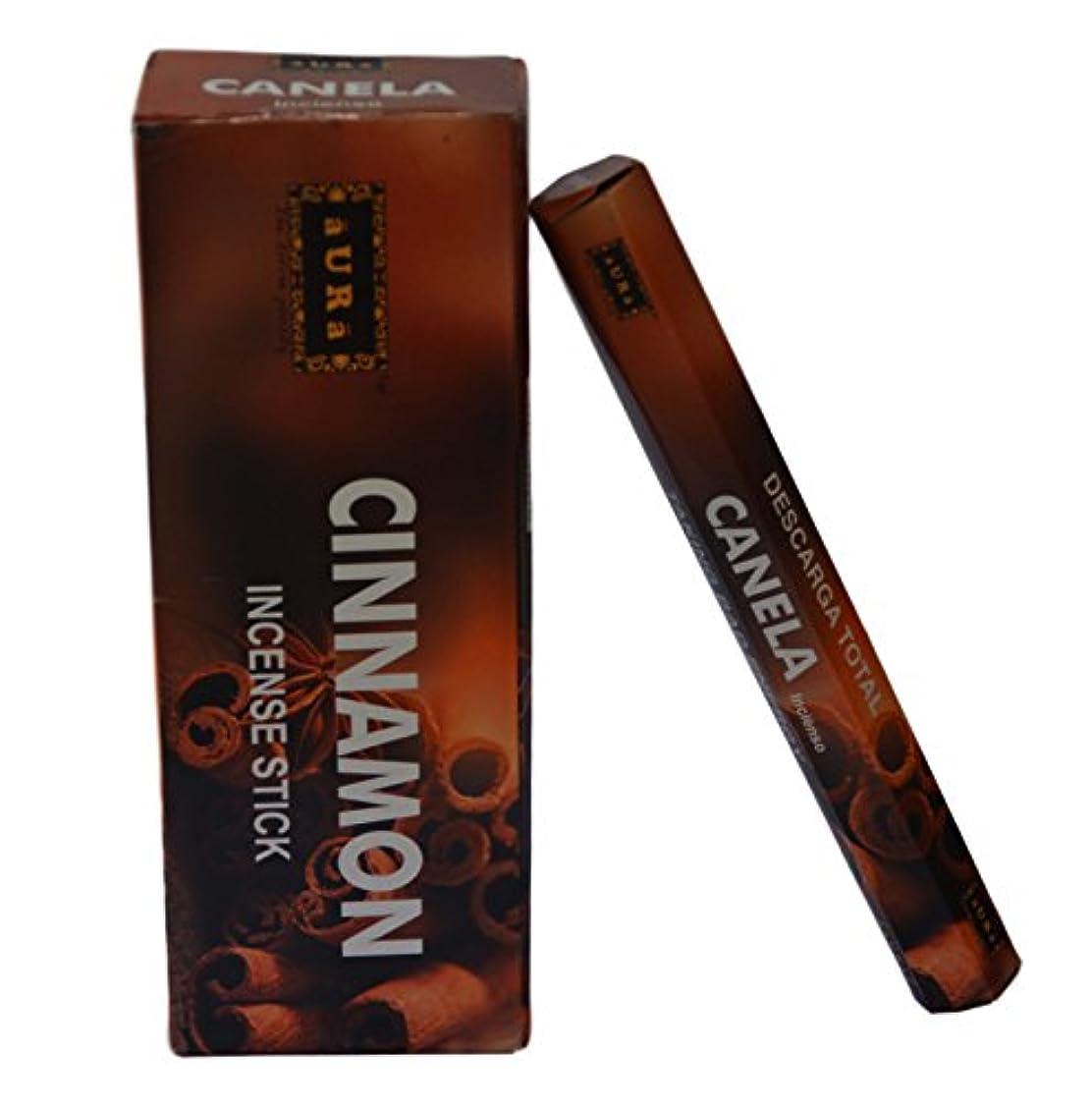 会議ホールド動揺させるオーラCinnamon Scented Incense Sticks、プレミアム天然Incense Sticks、六角packing- 120 Sticks