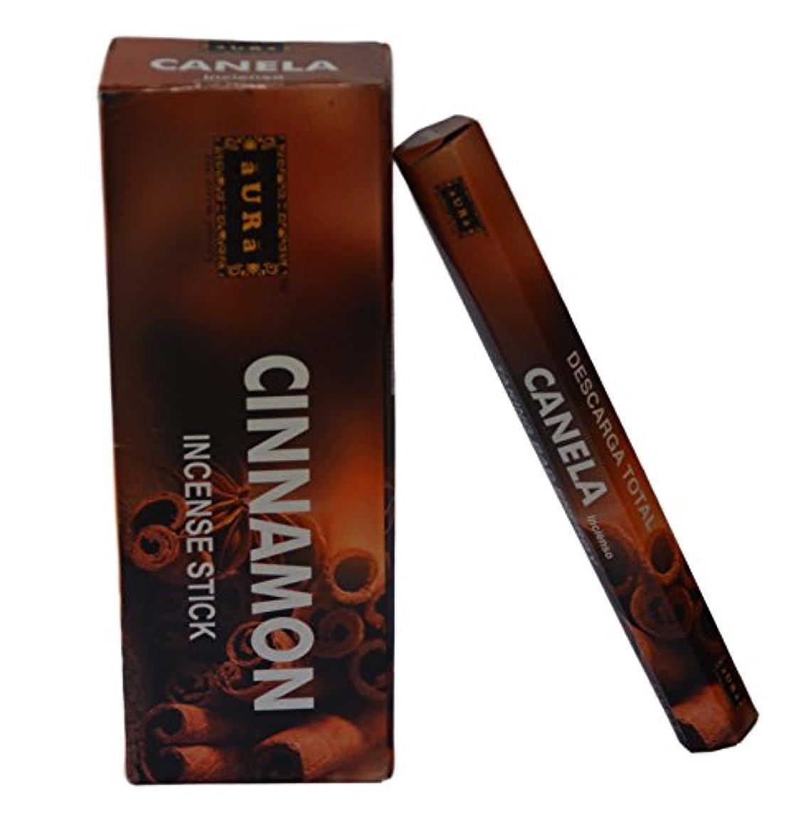 モザイクモデレータ人気オーラCinnamon Scented Incense Sticks、プレミアム天然Incense Sticks、六角packing- 120 Sticks