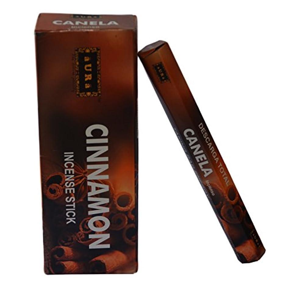 視聴者スポーツ気分オーラCinnamon Scented Incense Sticks、プレミアム天然Incense Sticks、六角packing- 120 Sticks