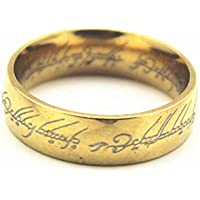 TIEM New Fashion Lover Titanium Gold Lord of the Ring The One Ring LOTR Band Ring