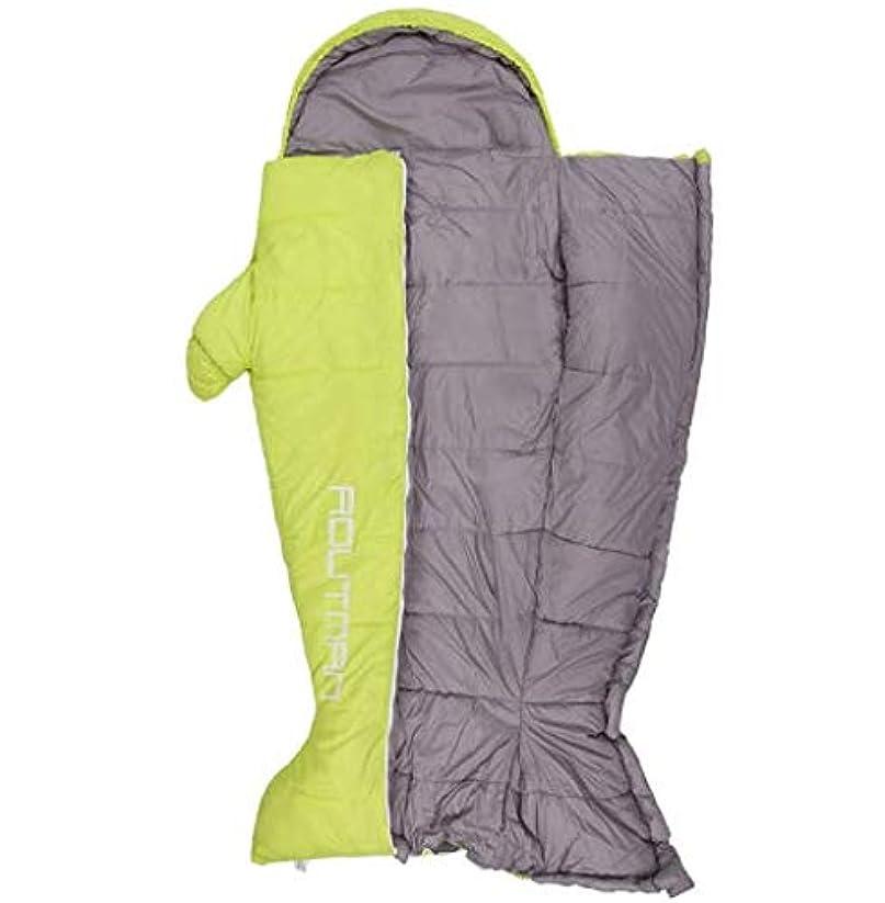 こどもセンター花束法令屋外の寝袋大人の創造的な寝袋肥厚秋と冬の屋内暖かい超軽量ポータブルキャンプペンギン寝袋 (Color : グリーン, Size : S)