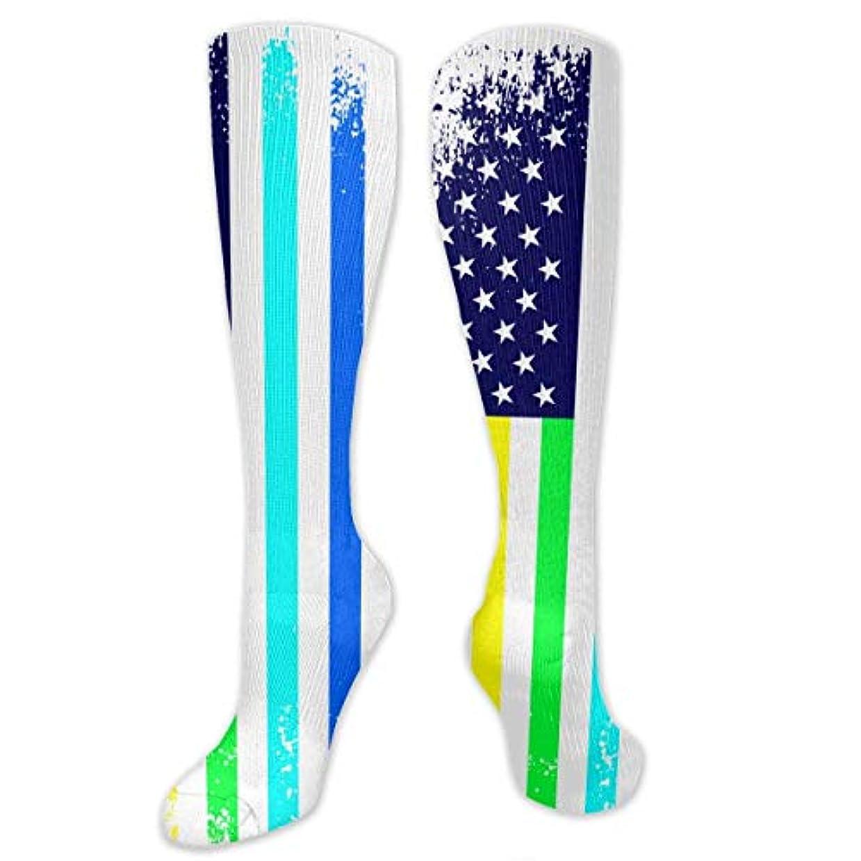 克服する調整可能メダルスカイラインクリスマスの靴下冬の男の男の旗