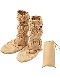 エムール 洗える 羽毛ロングブーツ ベージュ 収納袋付き 5色から選べる