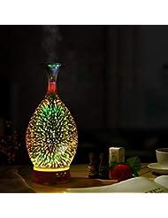 精油 ディフューザー, 3 D ガラス 星空 アロマディフューザー 超音波式 クールミスト ミュート 加湿器 の 自宅 オフィス Yoga-c