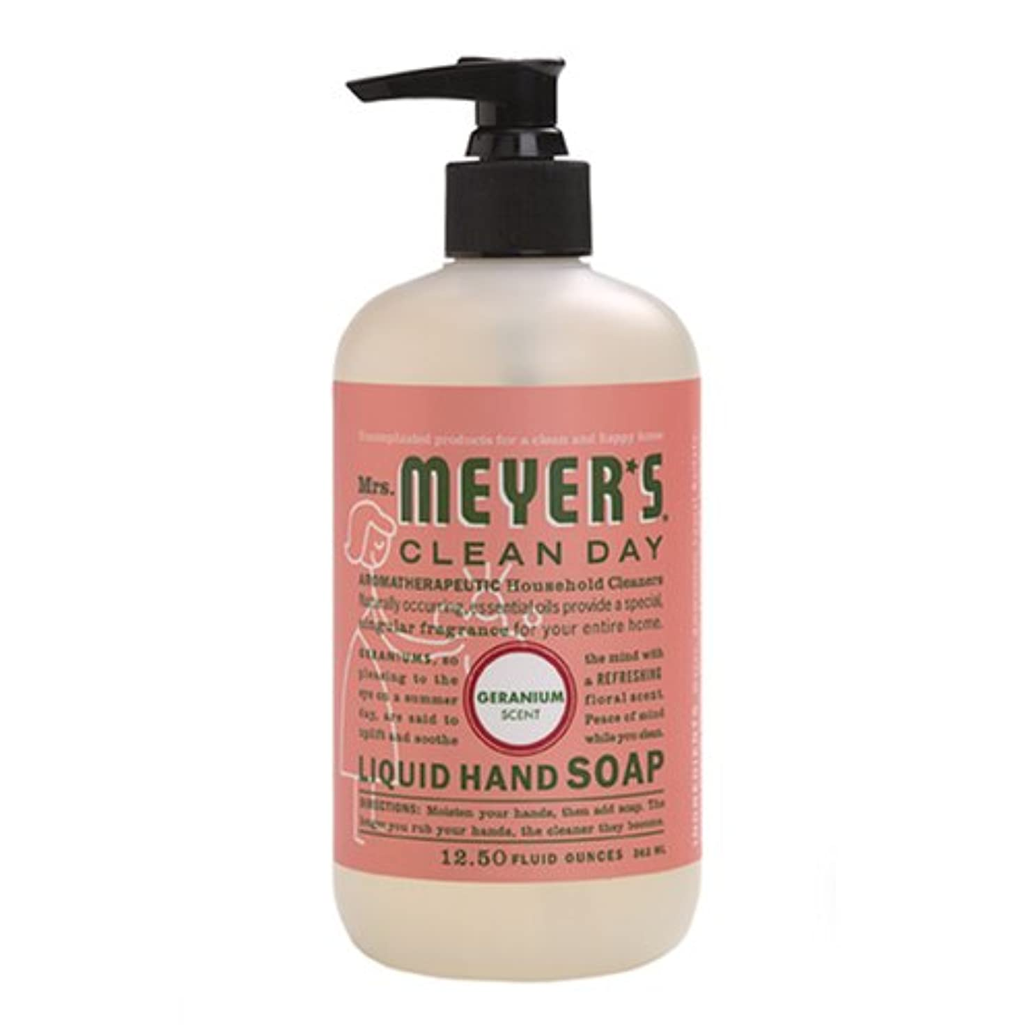スケート冊子割り当てMrs. Meyers Clean Day, Liquid Hand Soap, Geranium Scent, 12.5 fl oz (370 ml)