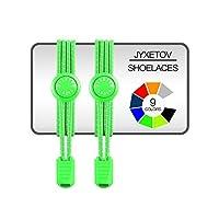 jyxetov Elastic No Tie Shoelaces withボーナス(9色、1ペア、2ペアまたはを選択する3ペア) for大人、子供、高齢者、カジュアルシューズ、スニーカー、ブーツ