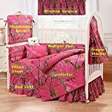 Camo Realtree AP Fuchsia (Hot Pink) 7 Pc Baby Crib Set - Gift Set, Save By Bundling! by Realtree [並行輸入品]