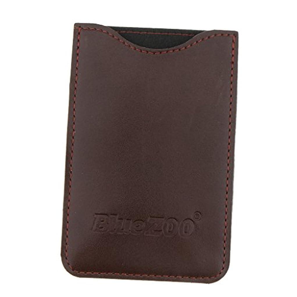 抜本的なさびた苦難収納パック 収納ケース 保護カバー 櫛/名刺/IDカード/銀行カード 旅行 便利 全2色 - 褐色