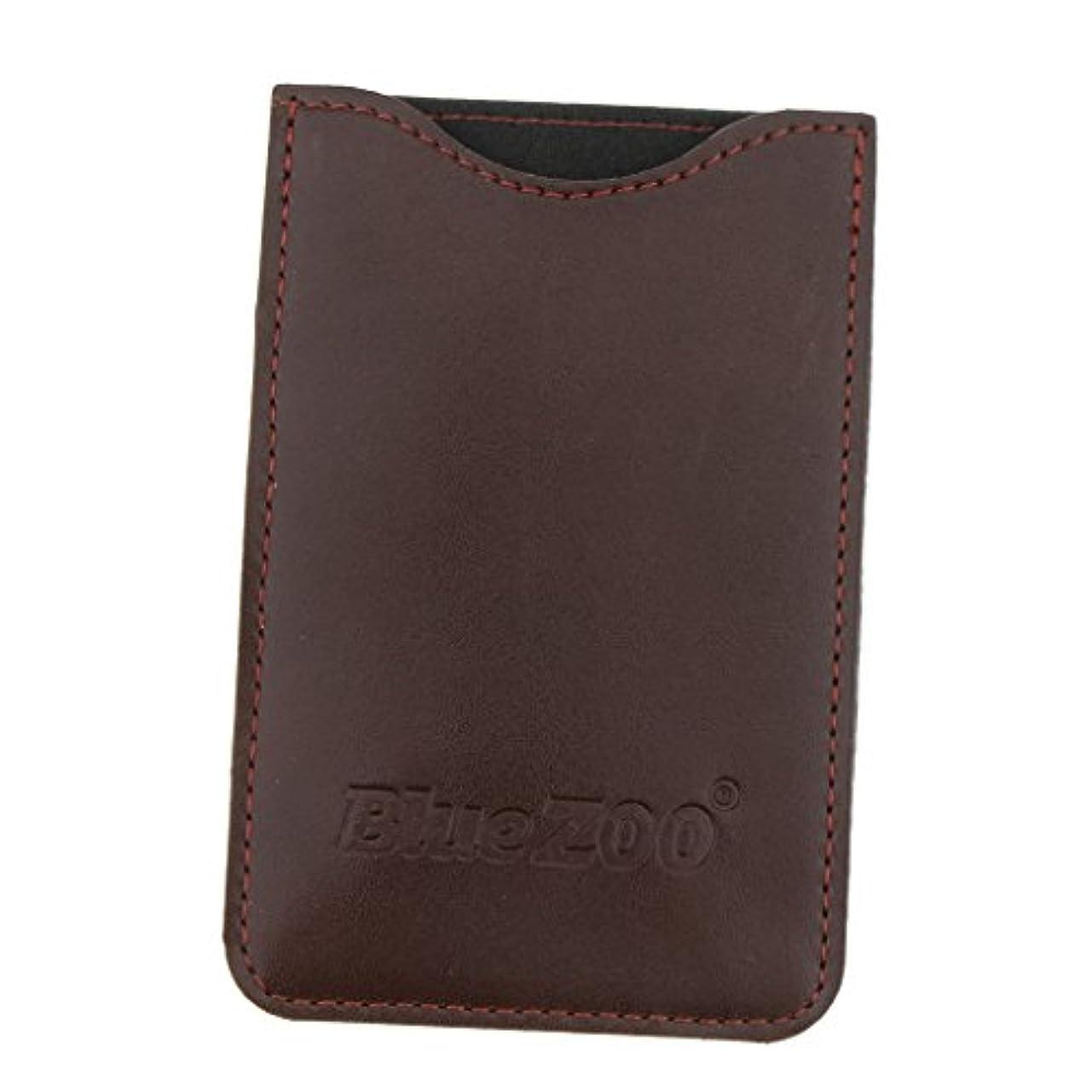 協力的臨検ディスコ収納パック 収納ケース 保護カバー 櫛/名刺/IDカード/銀行カード 旅行 便利 全2色 - 褐色