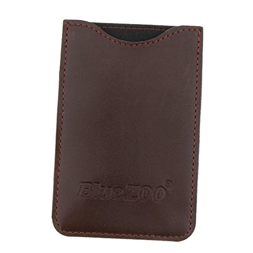 スペード夫婦立ち寄る収納パック 収納ケース 保護カバー 櫛/名刺/IDカード/銀行カード 旅行 便利 全2色 - 褐色