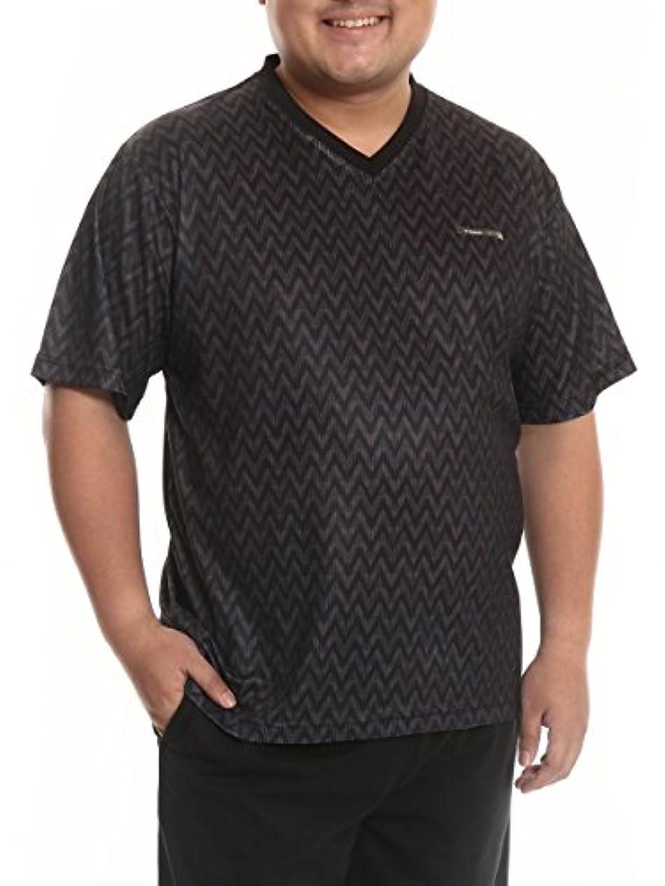 真珠のような熱バッジ(ケースイス) K-SWISS 大きいサイズ メンズ エアーアイス Vネック 半袖 Tシャツ トレーニングウエア