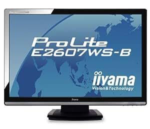 iiyama 25.5インチワイド液晶ディスプレイ アスペクト比固定拡大機能搭載 ブラック PLE2607WS-B1