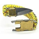 サバイバルブレスレット 多機能 ブレスレット サバイバルナイフ 傘ロープ アウトドア キャンプ用品 登山 野外生存 安全…