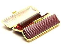 「琥珀樹脂印鑑18.0mm×60mmクッキーケース(ブラウン)付き」 横彫り 吉相体