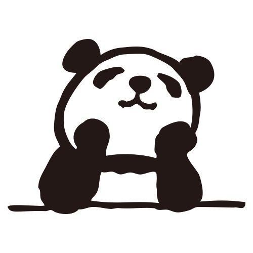 パンダミニ浸透印ごきげん妄想パンダ(インク:ブラック) (0543-012)こどものかおPanda self-inking stamp