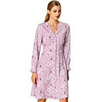 Allegra K Women's Fall Notch Lapel Shirt Dress Long Sleeve Smocked Waist Floral Dress