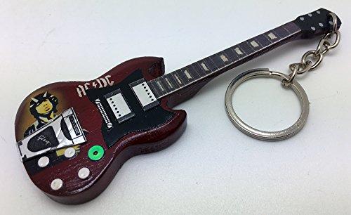 [해외][Musical Story] 미니 기타 A.C.D.C. 앵거스 영 SG 바람/[Musical Story] Miniature guitar A.C.D. C. Angus Young SG style