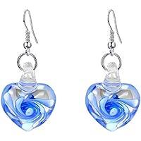 FIGHTINGV5 1 Pair Crystal Flower Heart Glass Drop Earrings Women Girls Lady Drop Dangle Hook Earrings
