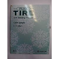 フジックス TIRE タイヤ 絹糸 カラーサンプル帳(絹ミシン糸、絹手縫い糸、絹穴糸)