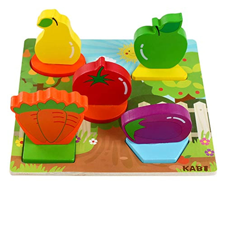Gbell カラフルな3D動物木製パズルセット 幼児用 19×18.5×6cm ジグソーボード 教育玩具 1~5歳の赤ちゃんや女の子、男の子や子供へのギフト 19 * 18.5 * 6cm GBDD01236907034448545