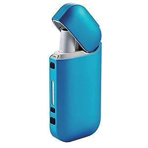 エレコム 電子タバコ IQOS アイコス専用 ケース ハードカバー ポリカーボネート素材 メタリックブルー ET-IQPV1BUL