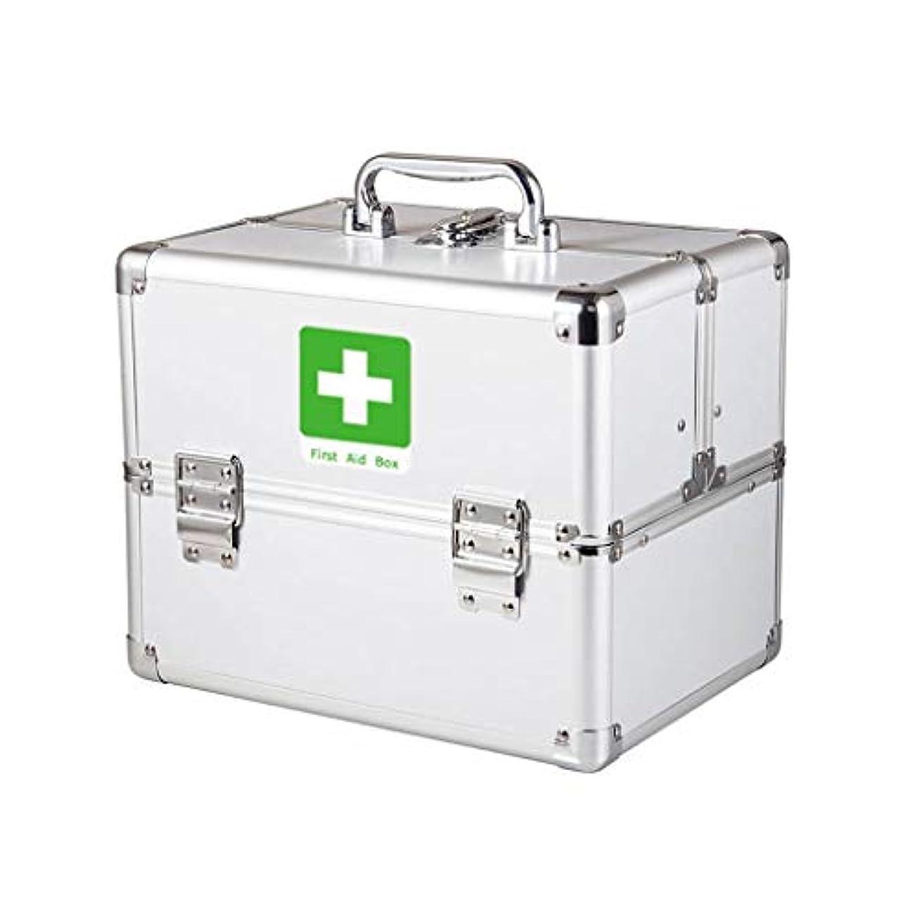 スマートシンポジウムフェードアウトYxsd 応急処置キット コンパートメントが付いているロックできる応急処置キットの医学箱、金属の医学の容器の緊急のキットのキャビネット (Size : S)