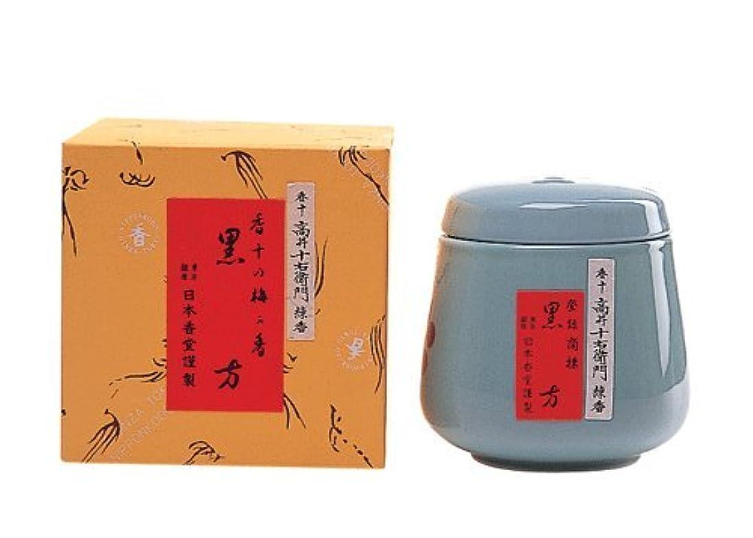 ほとんどない知覚するスペル渋みと甘みの香り 練香「黒方」 壷入