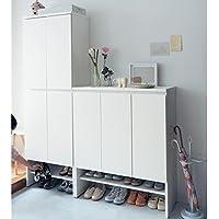 [ベルメゾン] オープン棚付きシューズボックス ホワイト タイプ/幅×高さ(cm):B/90×108