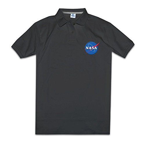 kongyii Man NASAロゴカジュアルメンズポロ...