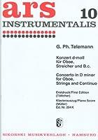 テレマン : オーボエ協奏曲 ニ短調 (オーボエ、ピアノ) シコルスキ出版