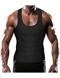 ursexylyサウナスーツメンズのタンクトップ、トレーニングベストジムシャツ重量損失シェイパーネオプレンヘルプ汗汗