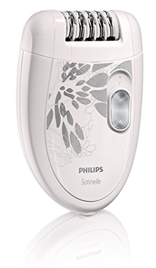 振動する評決教授【並行輸入品】Philips HP6401 Satinelle Epilator White/Gray