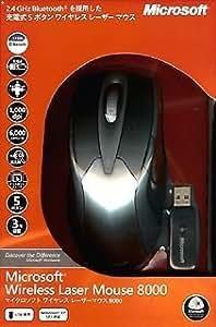 マイクロソフト ワイヤレス レーザー マウス Wireless Laser Mouse 8000 4CH-00016