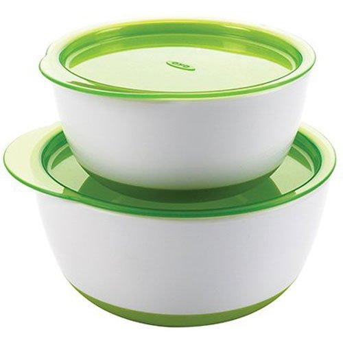 オクソー OXO Tot ボウルセット グリーン フタ付き ベビー食器 離乳食 すくいやすい 深皿 保存容器 FDOX6103900