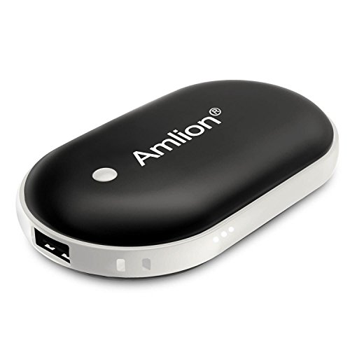 電気カイロ充電式 カイロ充電 USBカイロ 1台2役 両面暖かい 充電式カイロ/パワー・バンク ミニ型 携帯便利 5200mAh大容量
